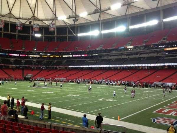 Georgia Dome, secção: 130, fila: 10, lugar: 3