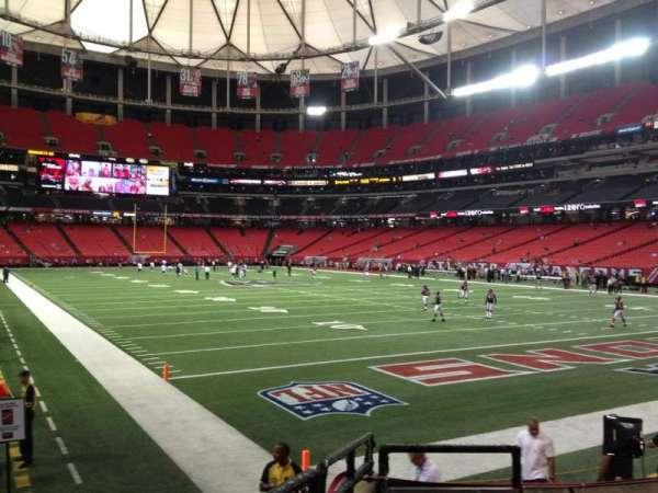 Georgia Dome, secção: 129, fila: 7, lugar: 2