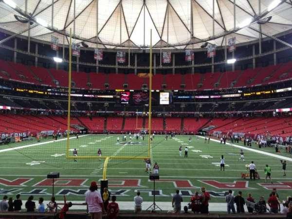 Georgia Dome, secção: 127, fila: 8, lugar: 1