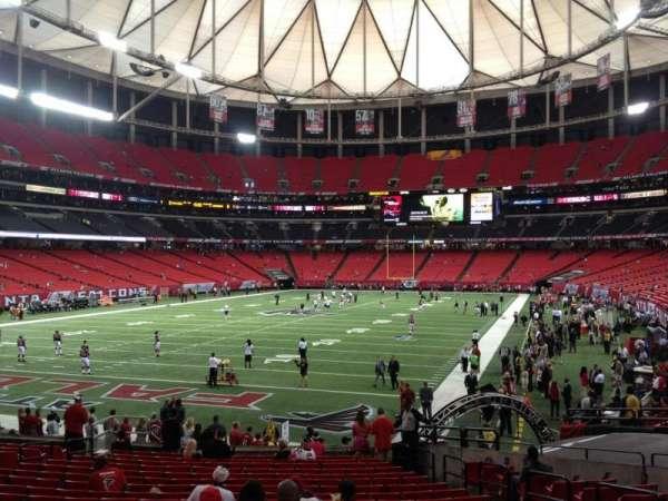 Georgia Dome, secção: 124, fila: 6, lugar: 6