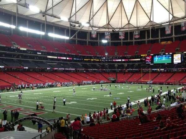 Georgia Dome, secção: 123, fila: 20, lugar: 17