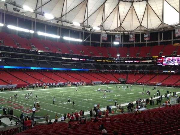Georgia Dome, secção: 122, fila: 21, lugar: 21