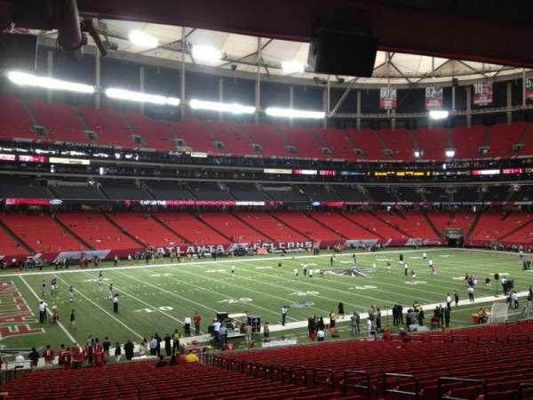 Georgia Dome, secção: 121, fila: 29, lugar: 8
