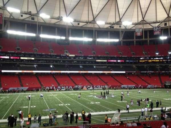 Georgia Dome, secção: 119, fila: 36, lugar: 1