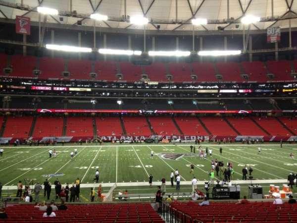 Georgia Dome, secção: 118, fila: 24, lugar: 16