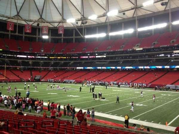 Georgia Dome, secção: 111, fila: 16, lugar: 13