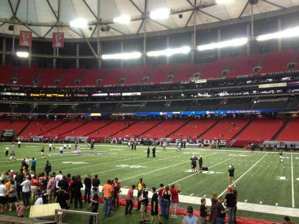 Georgia Dome, secção: 112, fila: 8, lugar: 8