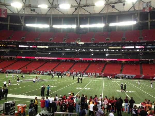 Georgia Dome, secção: 113, fila: 10, lugar: 1