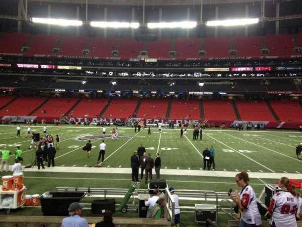 Georgia Dome, secção: 115, fila: 8, lugar: 20