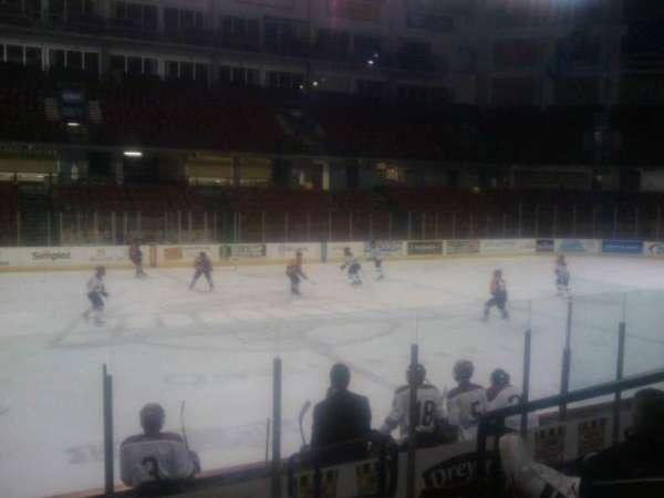 Idaho Central Arena, secção: 104, fila: h, lugar: 3