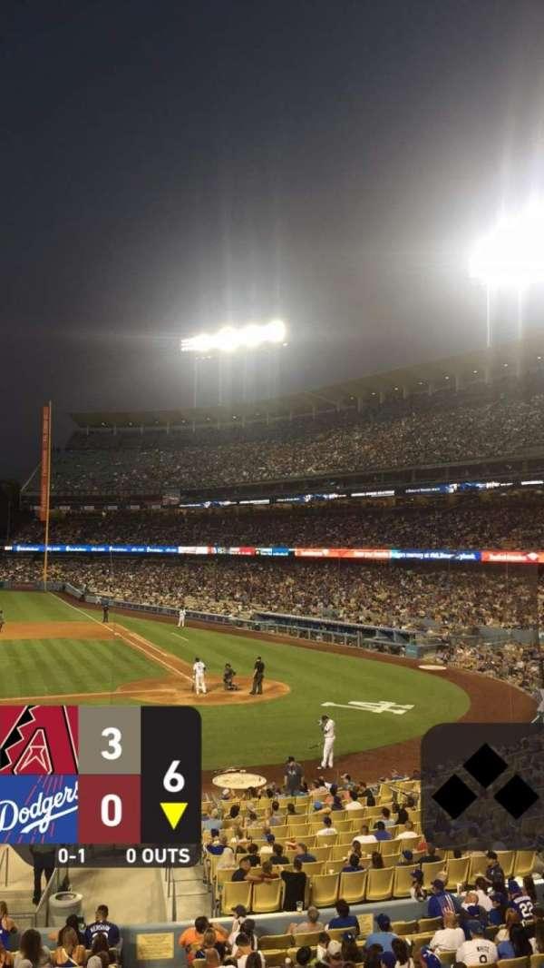 Dodger Stadium, secção: 125LG, fila: A, lugar: 3