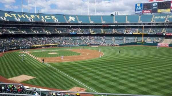 Oakland Coliseum, secção: 204, fila: 5, lugar: 9