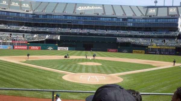 Oakland Coliseum, secção: 117, fila: 17, lugar: 9
