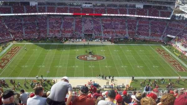 Levi's Stadium, secção: 412, fila: 18, lugar: 12