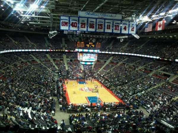 The Palace of Auburn Hills, secção: 209, fila: 5, lugar: 11