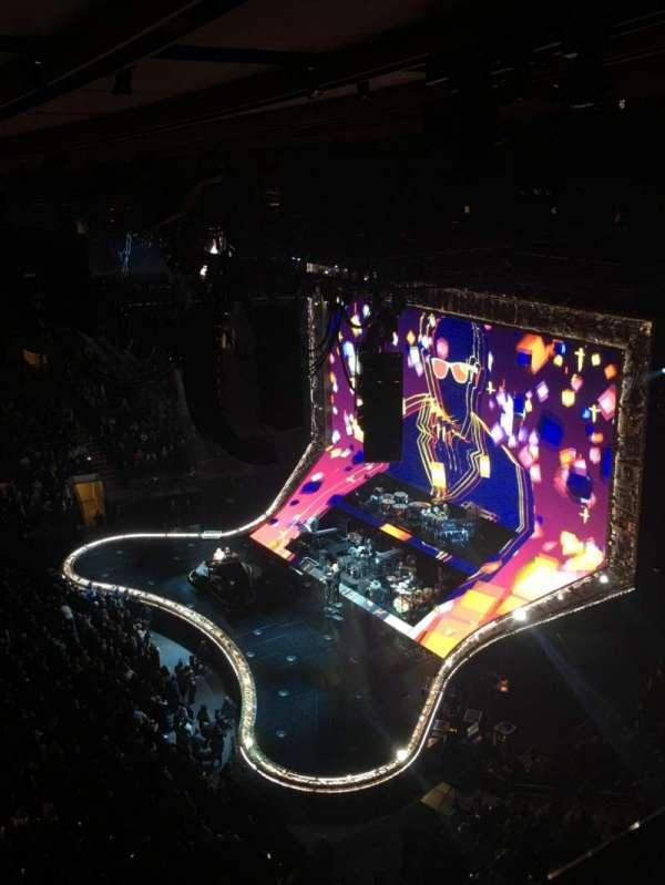 Madison Square Garden, secção: 313, fila: 1, lugar: 6