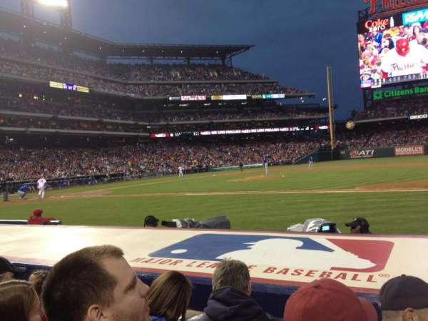Citizens Bank Park, secção: 116, fila: 3, lugar: 5