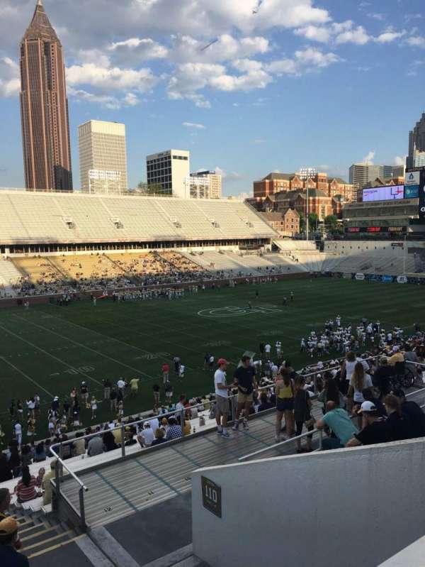 Bobby Dodd Stadium, secção: 111, fila: 38, lugar: 5