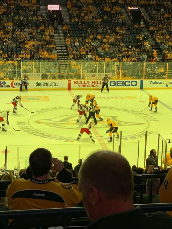 Bridgestone Arena, secção: 115, fila: L, lugar: 7