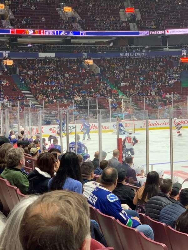 Rogers Arena, secção: 116, fila: 8, lugar: 5