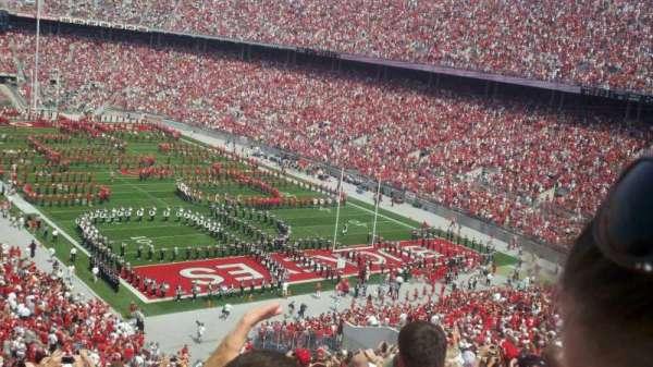 Ohio Stadium, secção: 33B, fila: 20, lugar: 23