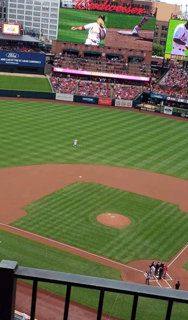 Busch Stadium, secção: 452, fila: 2, lugar: 18