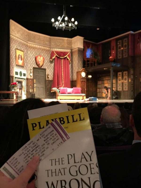 Lyceum Theatre (Broadway), secção: Orchestra C, fila: F, lugar: 113