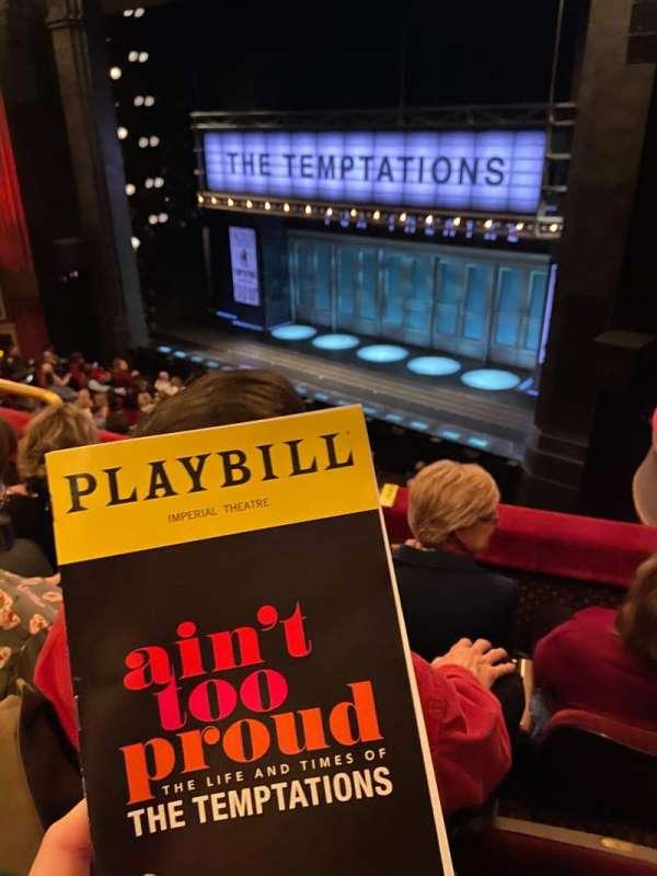 Imperial Theatre, secção: MezzR, fila: C, lugar: 5
