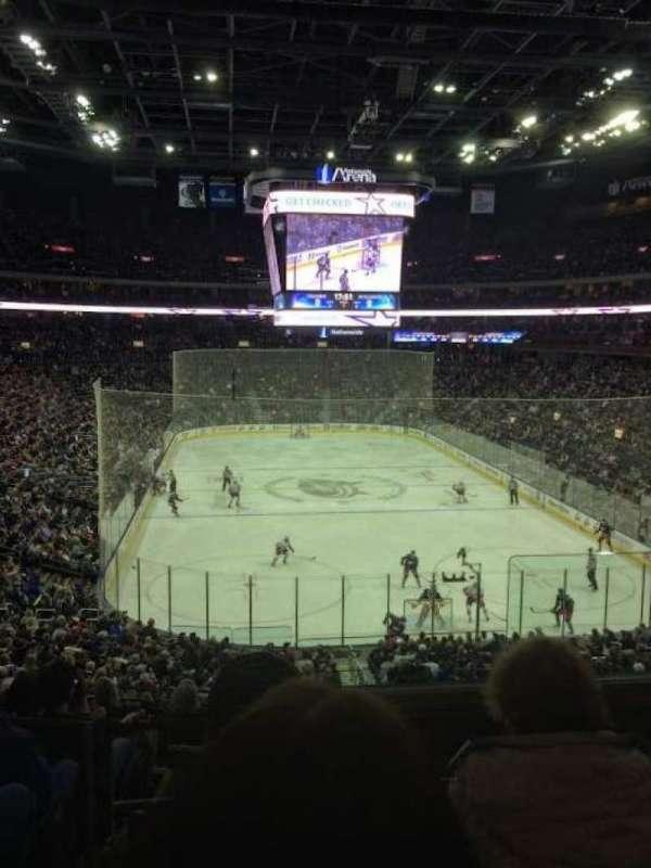 Nationwide Arena, secção: 121, fila: KK, lugar: 2