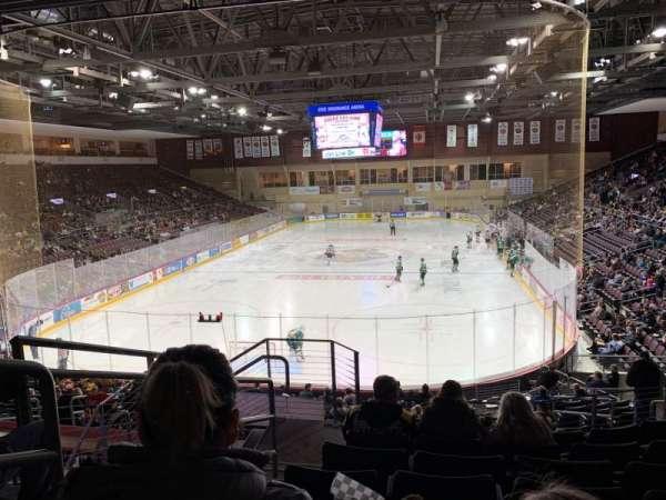 Erie Insurance Arena, secção: 212, fila: V, lugar: 18