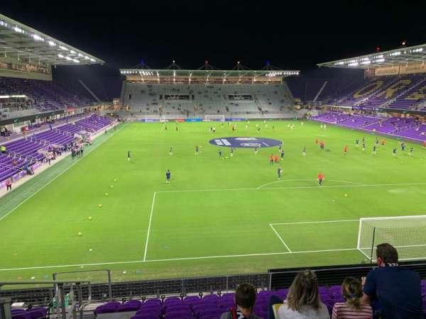 Exploria Stadium, secção: 105, fila: K, lugar: 20