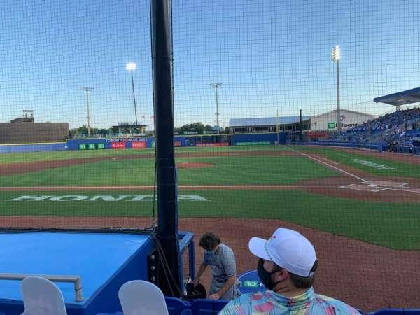 TD Ballpark, secção: 109, fila: 5, lugar: 9
