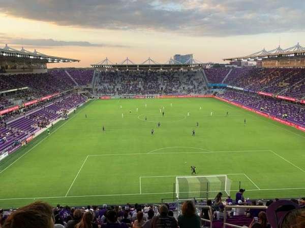 Exploria Stadium, secção: 105, fila: X, lugar: 3