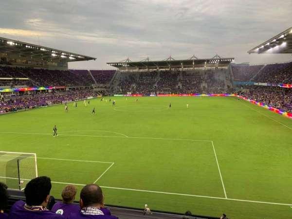 Exploria Stadium, secção: 103, fila: D, lugar: 4