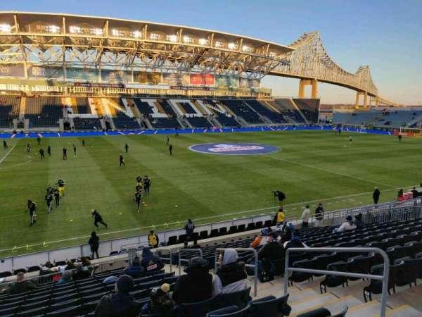 Talen Energy Stadium, secção: 110, fila: T, lugar: 5