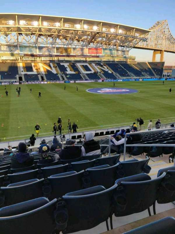 Talen Energy Stadium, secção: 110, fila: T, lugar: 4