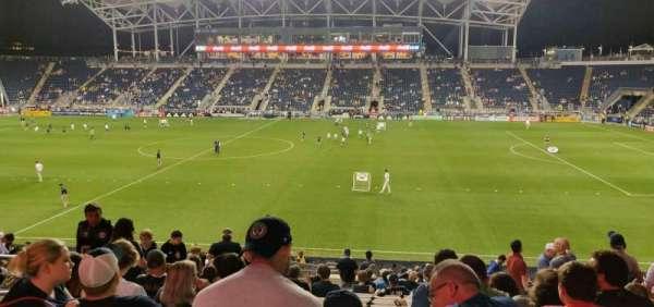 Talen Energy Stadium, secção: 125, fila: x, lugar: 15