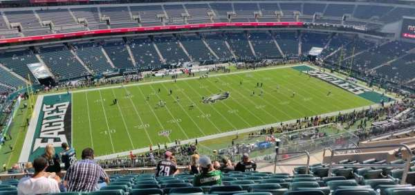 Lincoln Financial Field, secção: 242, fila: 16, lugar: 7