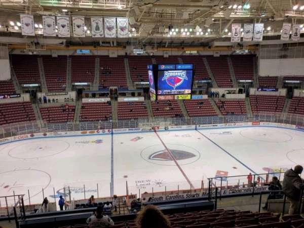 North Charleston Coliseum, secção: 232, fila: M, lugar: 8