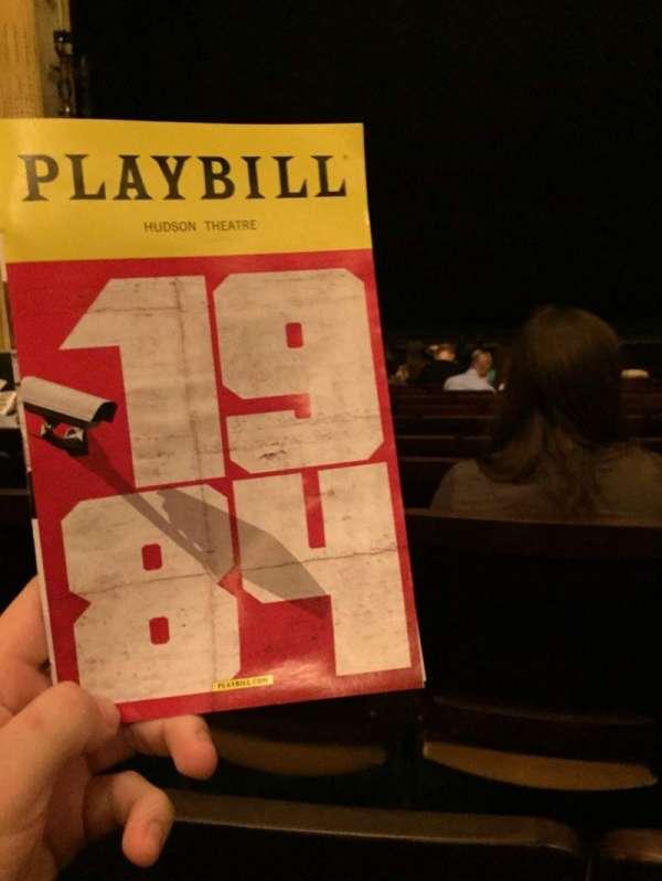 Hudson Theatre, secção: Orchestra C, fila: M, lugar: 110