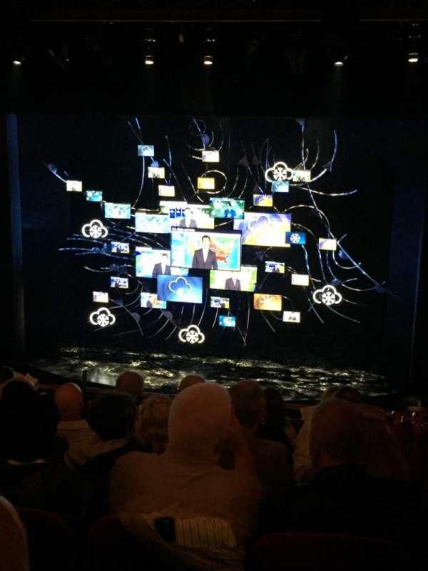 August Wilson Theatre, secção: Mezzanine C, fila: G, lugar: 114