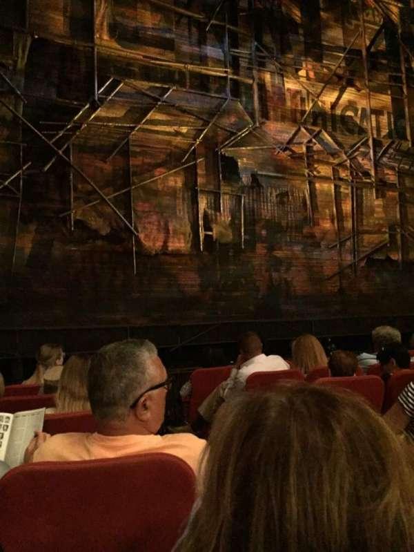 Broadway Theatre - 53rd Street, secção: Orchestra L, fila: G, lugar: 4