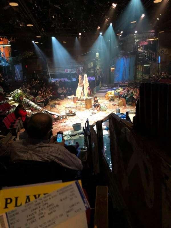 Circle in the Square Theatre, secção: Orchestra 100 (Odd), fila: E, lugar: 101