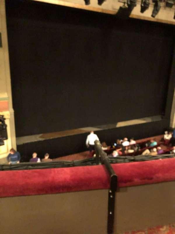 Neil Simon Theatre, secção: Front Mezzanine L, fila: B, lugar: 1