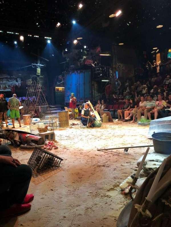 Circle in the Square Theatre, secção: Orch, fila: A, lugar: 109