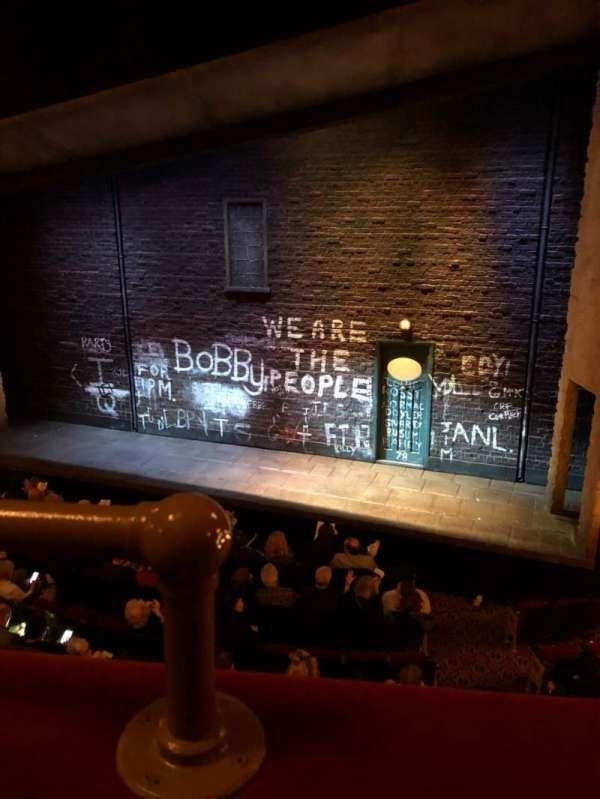 Bernard B. Jacobs Theatre, secção: Mezzanine R, fila: A, lugar: 2