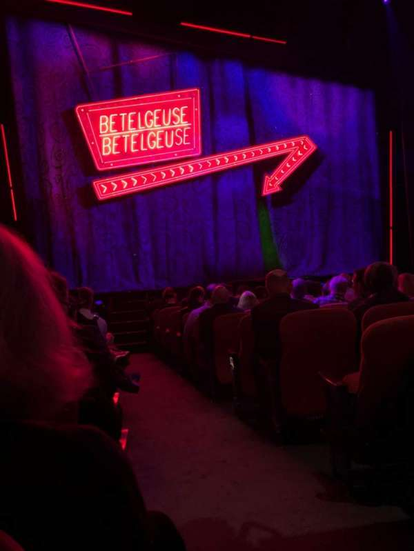 National Theatre (DC), secção: Orch, fila: M, lugar: 1