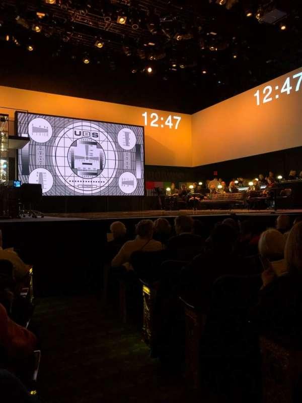Belasco Theatre, secção: Orchestra L, fila: G, lugar: 1