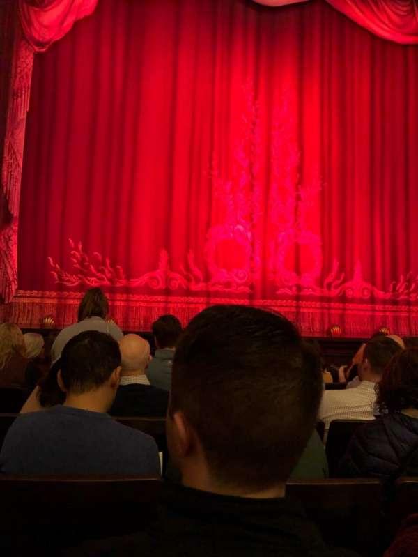Hudson Theatre, secção: Orchestra C, fila: F, lugar: 106