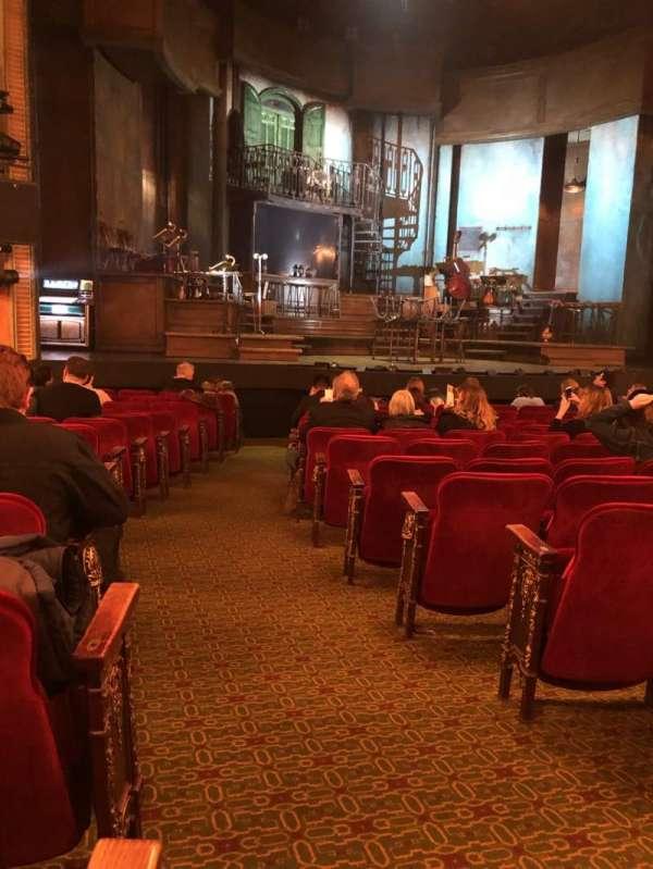 Walter Kerr Theatre, secção: Orch, fila: P, lugar: 1